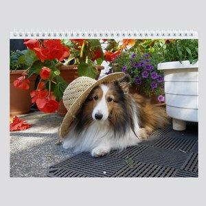 Sheltie in a Tilted Hat Wall Calendar